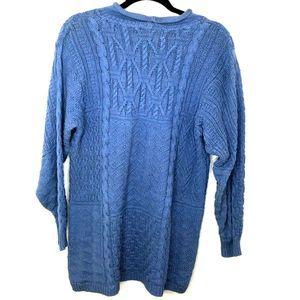 Talbot's Women's Blue Knit Sweater Sz L